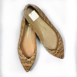 Dolce Vita Faux Reptile Pointy Flats